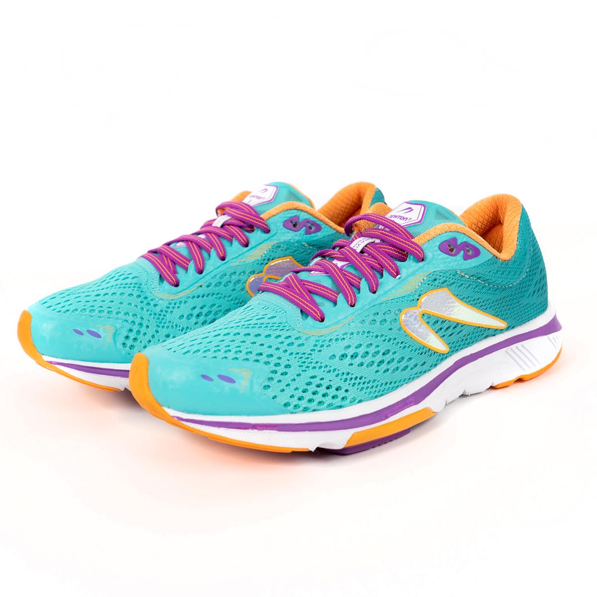 Women's Newton Gravity 9 Running Shoe - Color: Jade/Purple (Regular Width) - Size: 5, Jade/Purple, large, image 4