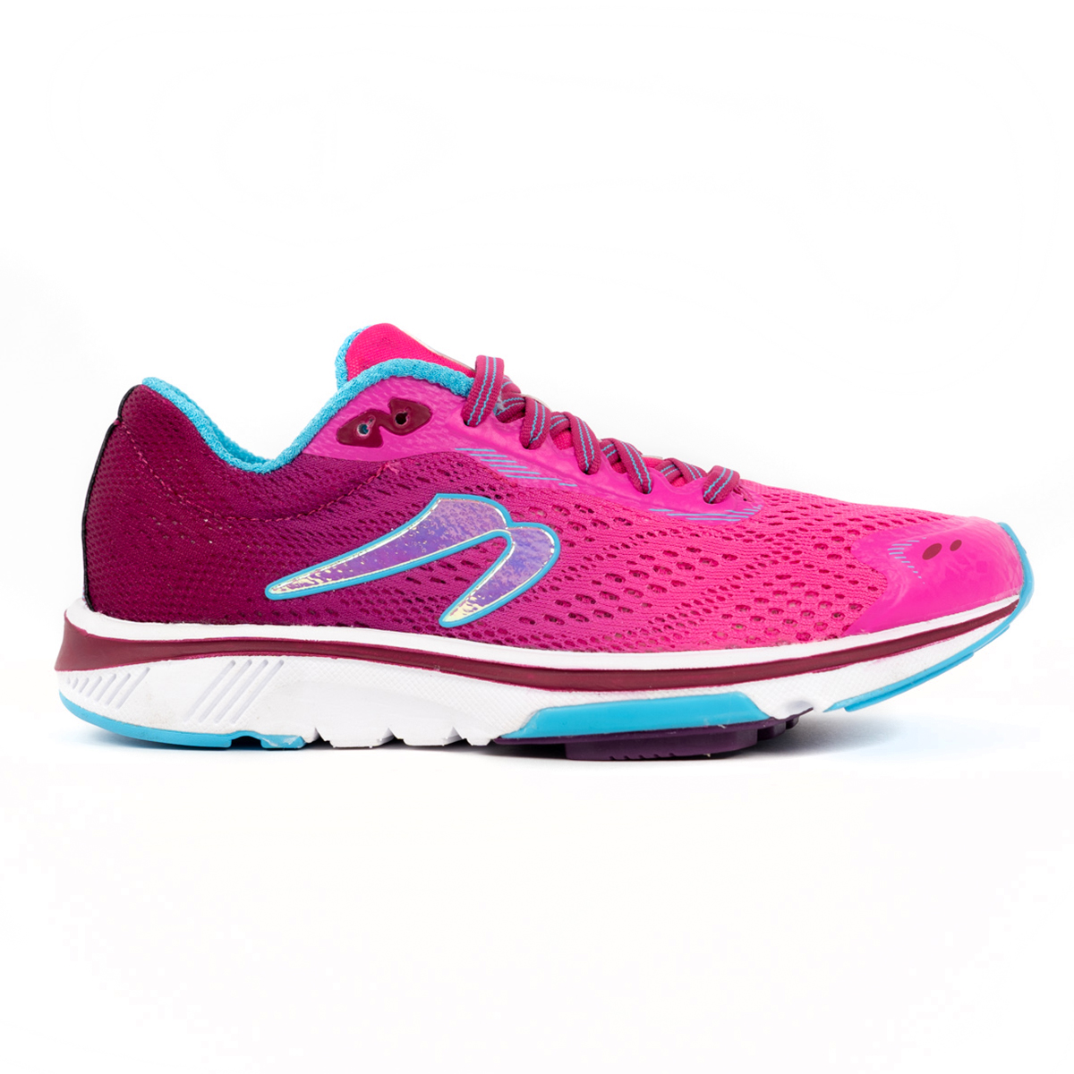 Women's Newton Motion 9 Running Shoe - Color: Pink/Aqua (Regular Width) - Size: 5, Pink/Aqua, large, image 1