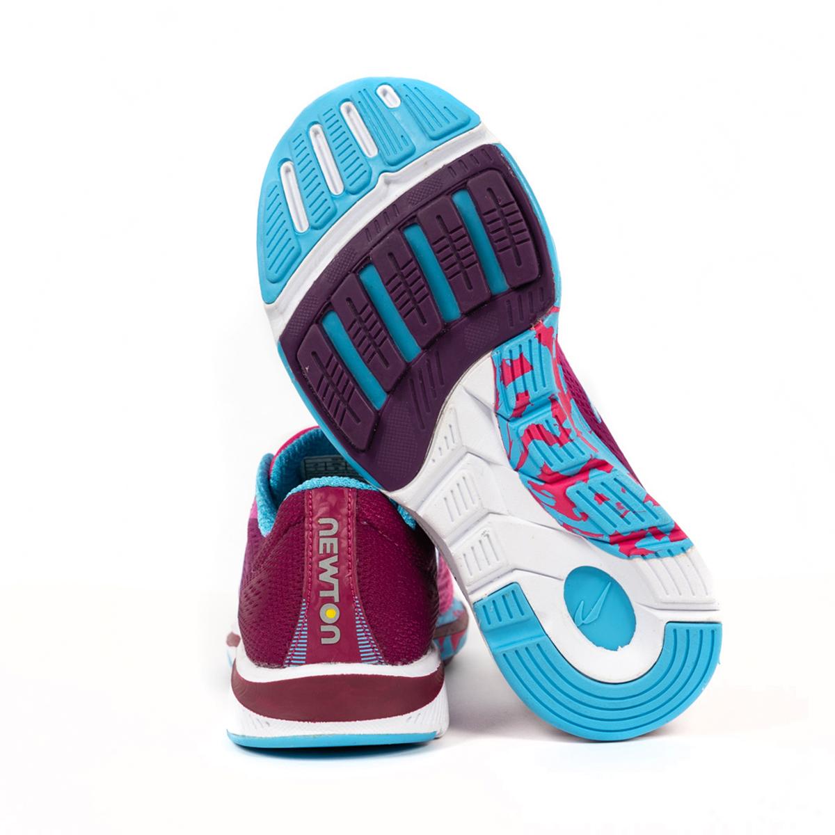 Women's Newton Motion 9 Running Shoe - Color: Pink/Aqua (Regular Width) - Size: 5, Pink/Aqua, large, image 2