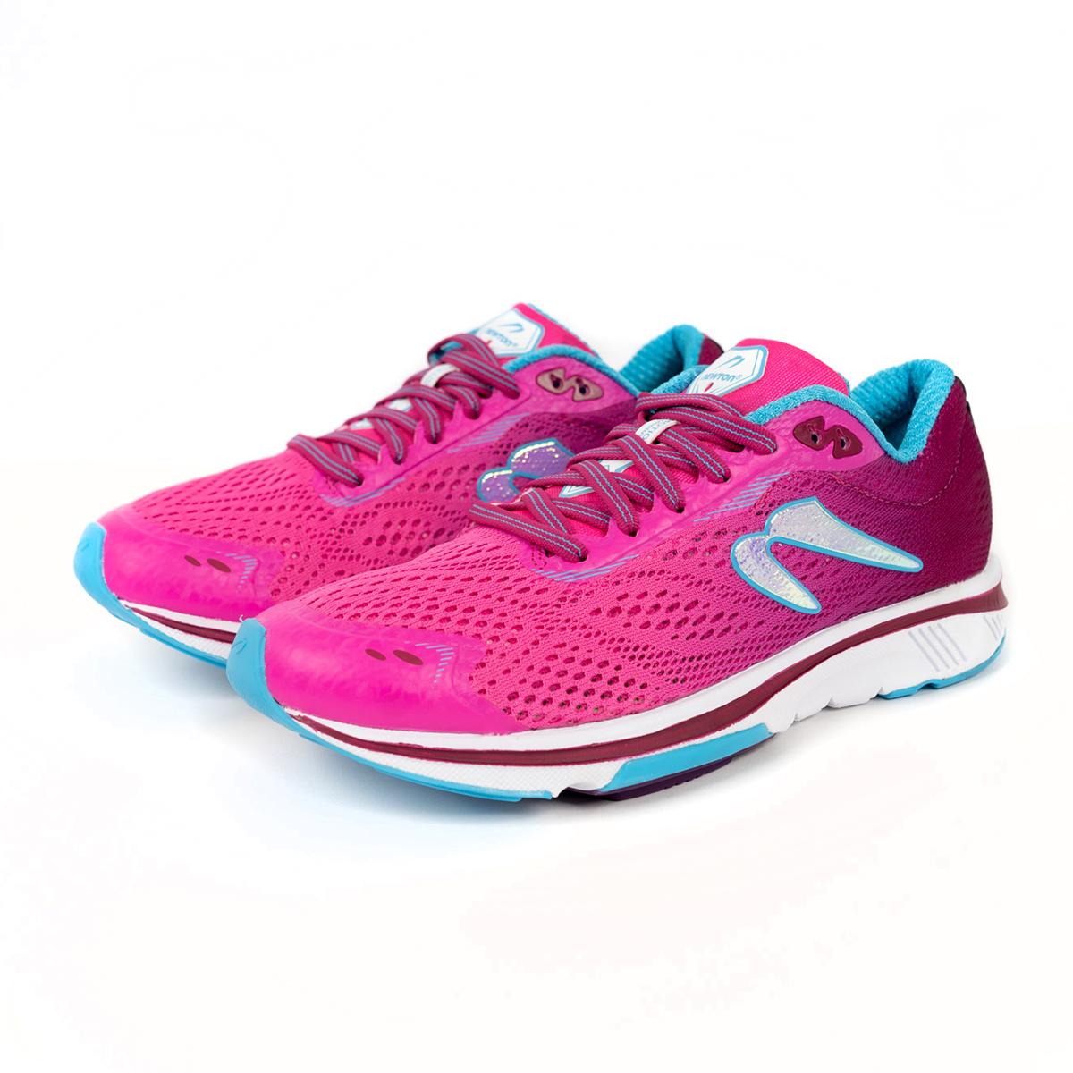 Women's Newton Motion 9 Running Shoe - Color: Pink/Aqua (Regular Width) - Size: 5, Pink/Aqua, large, image 3
