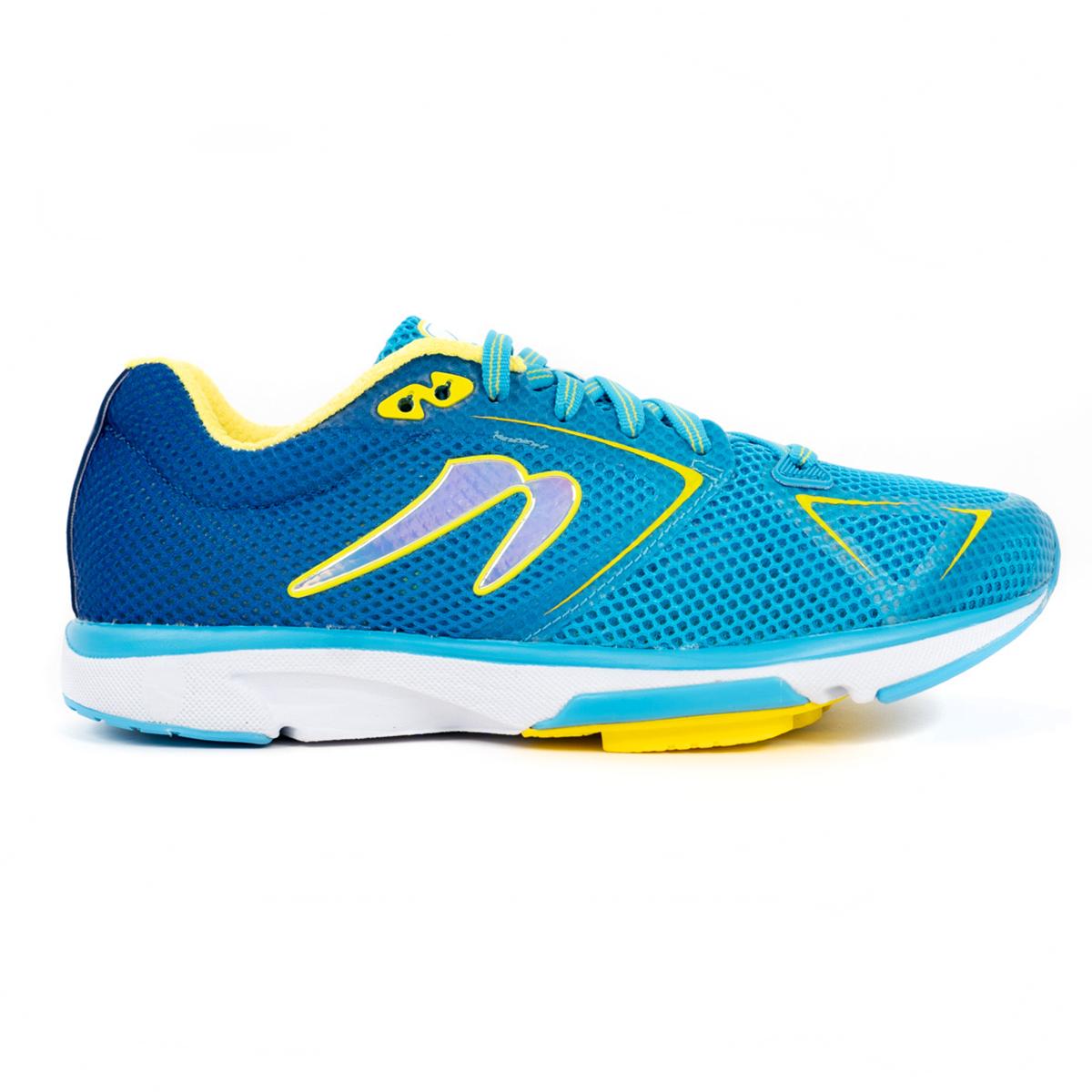 Women's Newton Distance 9 Running Shoe - Color: Laguna/Yellow (Regular Width) - Size: 5, Laguna/Yellow, large, image 1