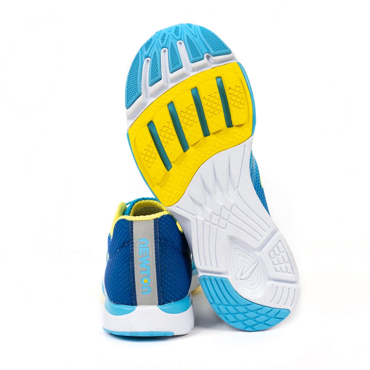 Women's Newton Distance 9 Running Shoe - Color: Laguna/Yellow (Regular Width) - Size: 5, Laguna/Yellow, large, image 2