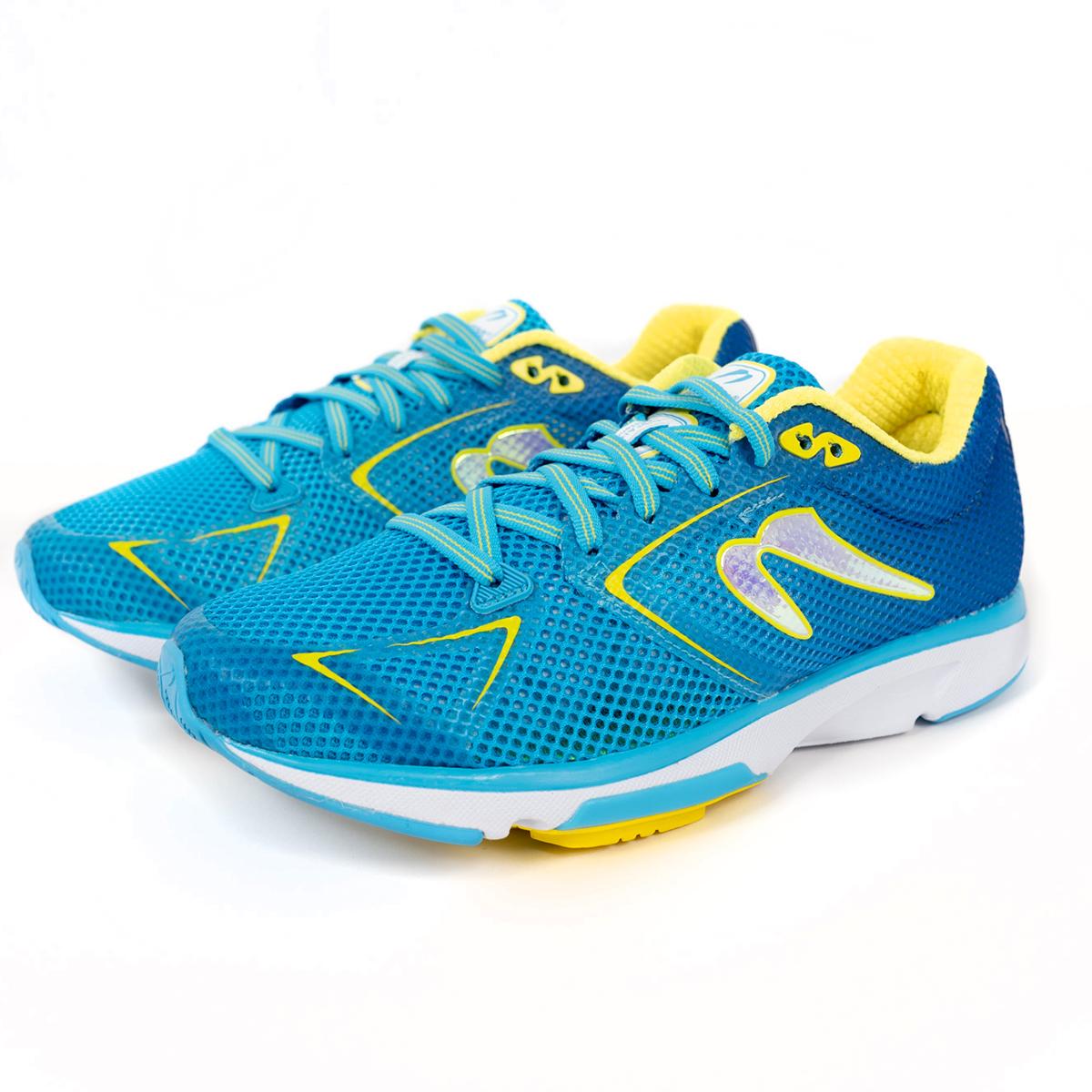 Women's Newton Distance 9 Running Shoe - Color: Laguna/Yellow (Regular Width) - Size: 5, Laguna/Yellow, large, image 3