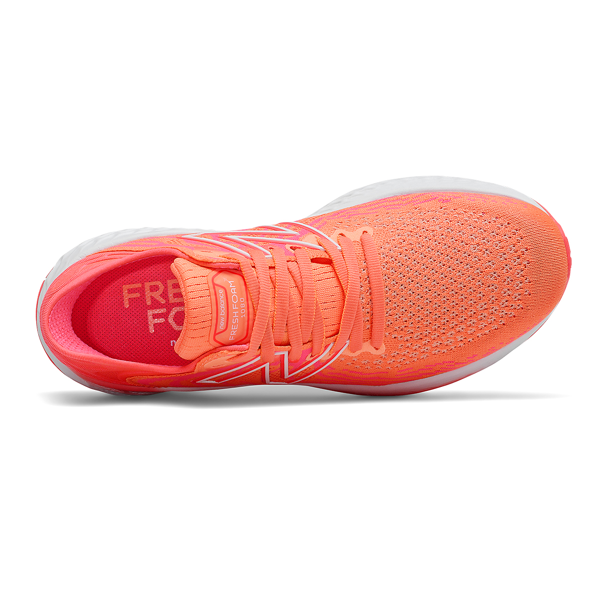 Women's New Balance 1080v11 Running Shoe - Color: Citrus Punch/Vivid Coral - Size: 5 - Width: Narrow, Citrus Punch/Vivid Coral, large, image 4