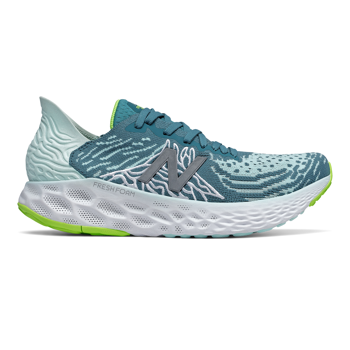 Women's New Balance Fresh Foam 1080v10 Running Shoe - Color: Jet Stream/Glacier - Size: 5 - Width: Regular, Jet Stream/Glacier, large, image 1