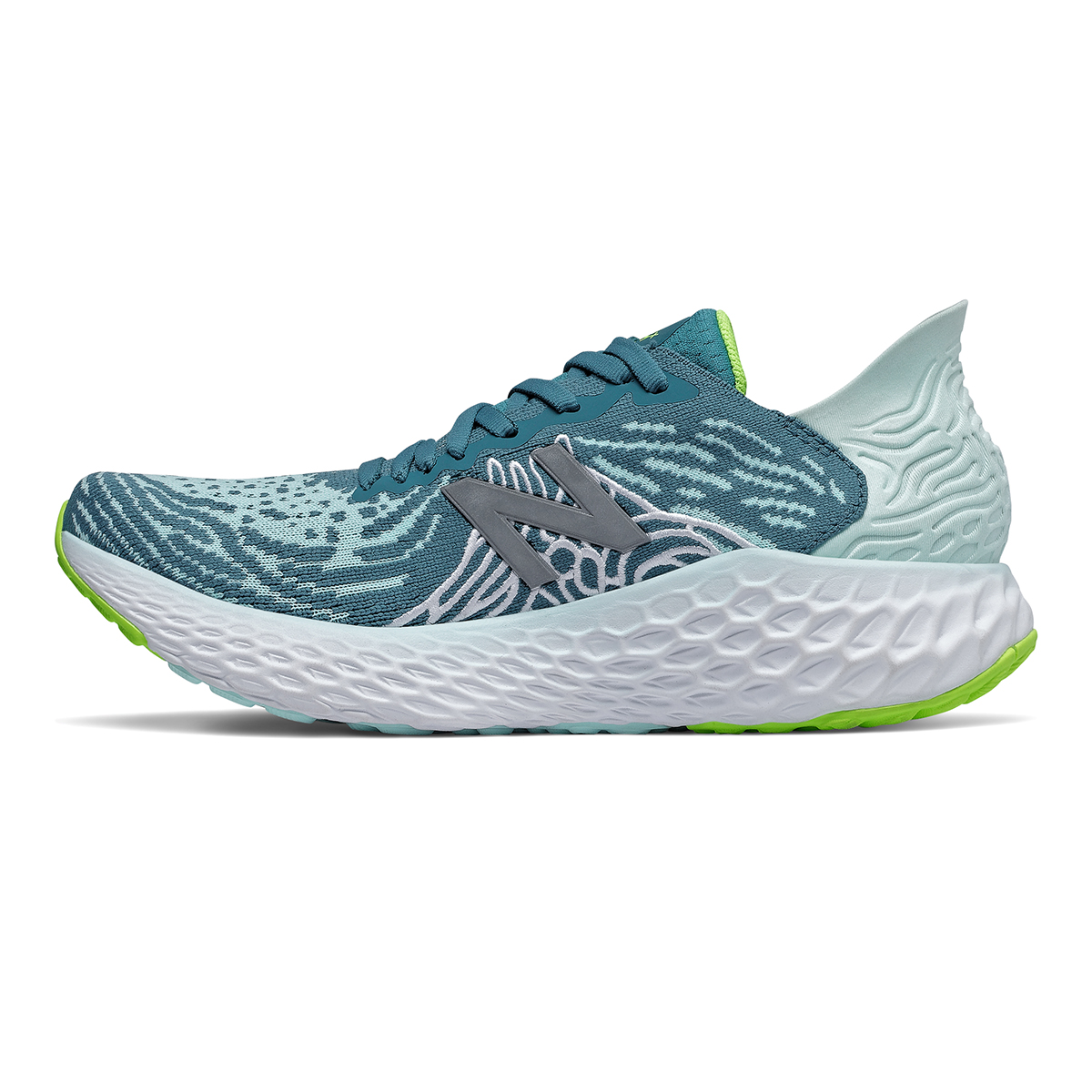 Women's New Balance Fresh Foam 1080v10 Running Shoe - Color: Jet Stream/Glacier - Size: 5 - Width: Regular, Jet Stream/Glacier, large, image 2