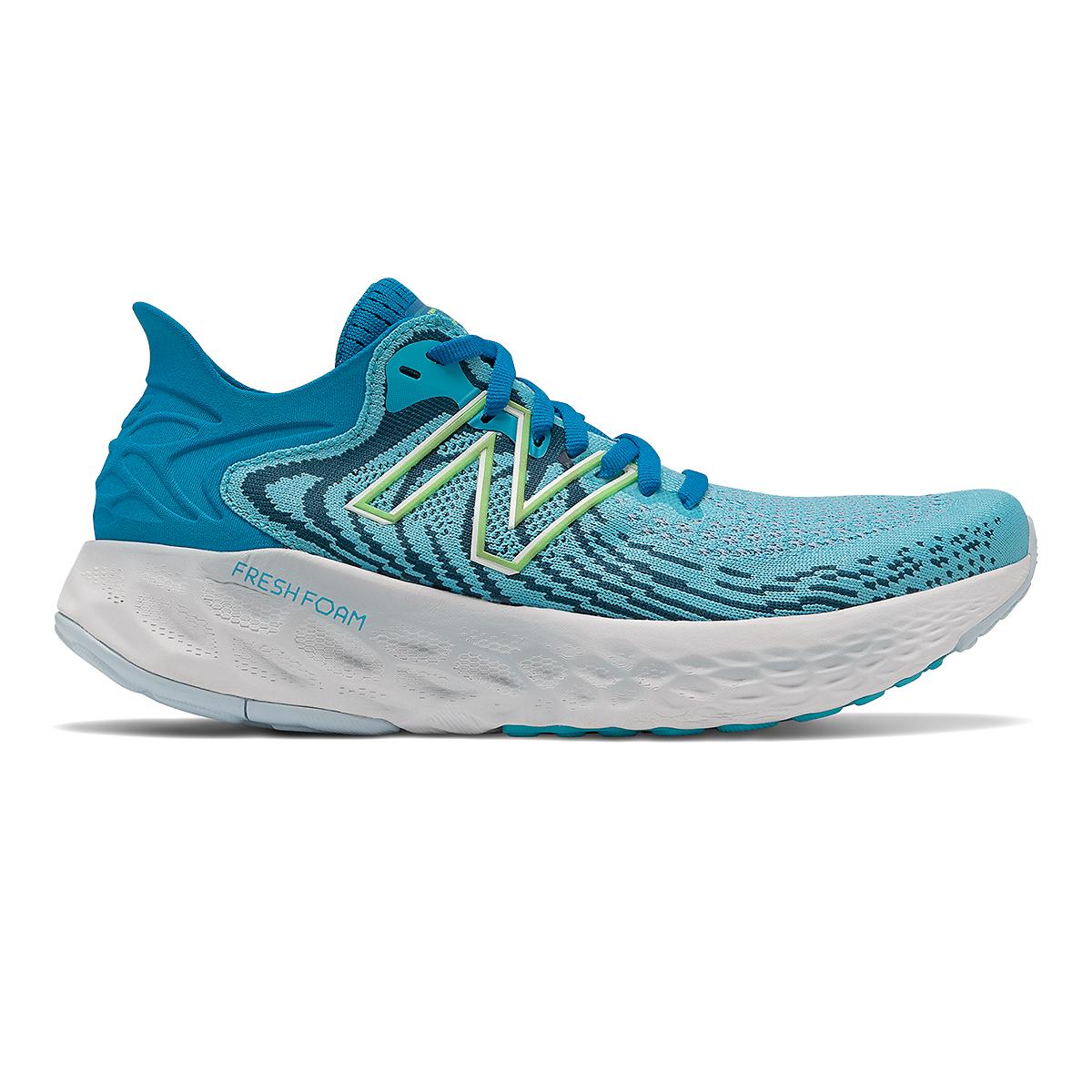 Women's New Balance Fresh Foam 1080v11 Running Shoe - Color: Virtual Sky/Bleached Lime Glo - Size: 5 - Width: Narrow, Virtual Sky/Bleached Lime Glo, large, image 1