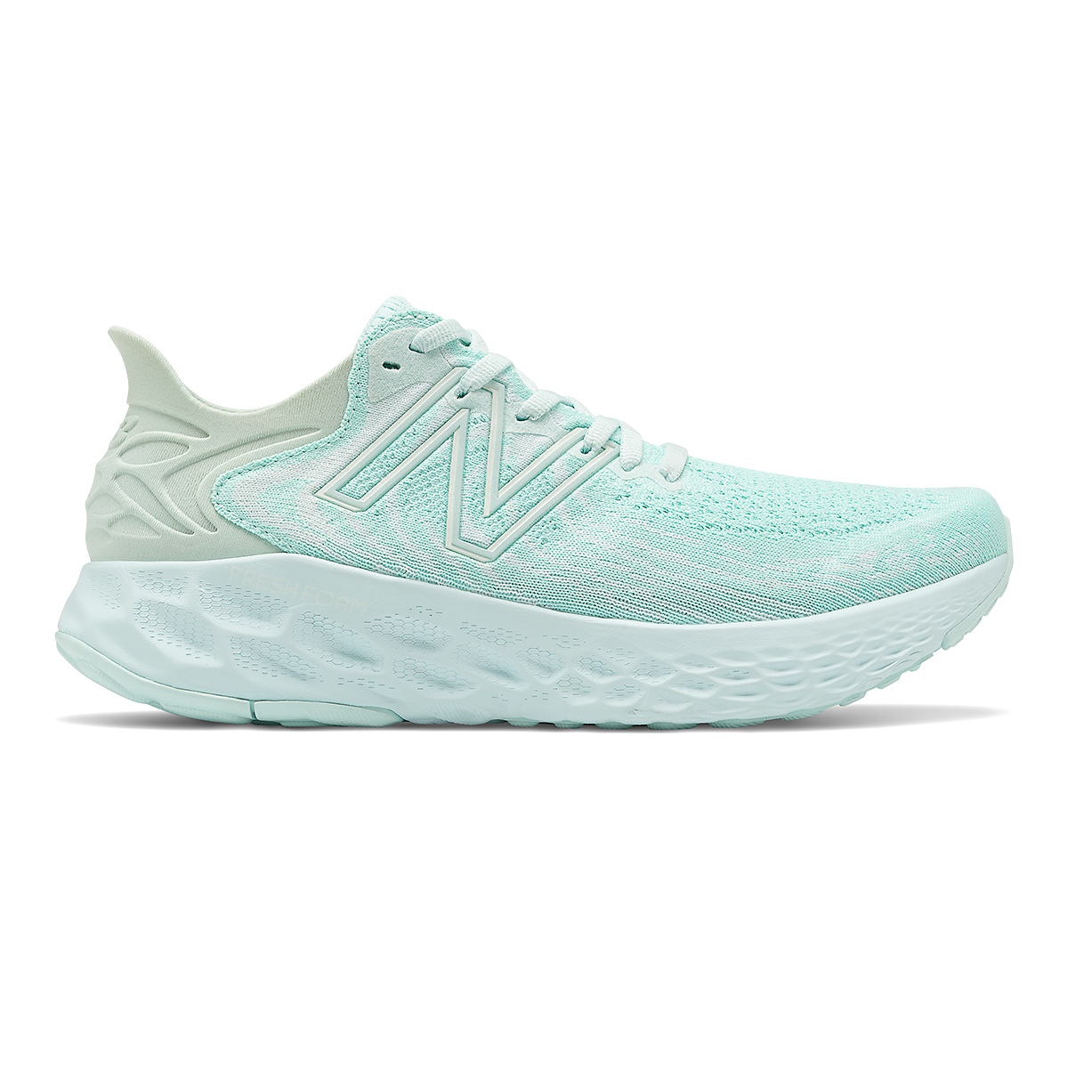 Women's New Balance Fresh Foam 1080V11 Running Shoe - Color: White Mint/White Jade - Size: 13 - Width: Regular, Mint Green, large, image 1
