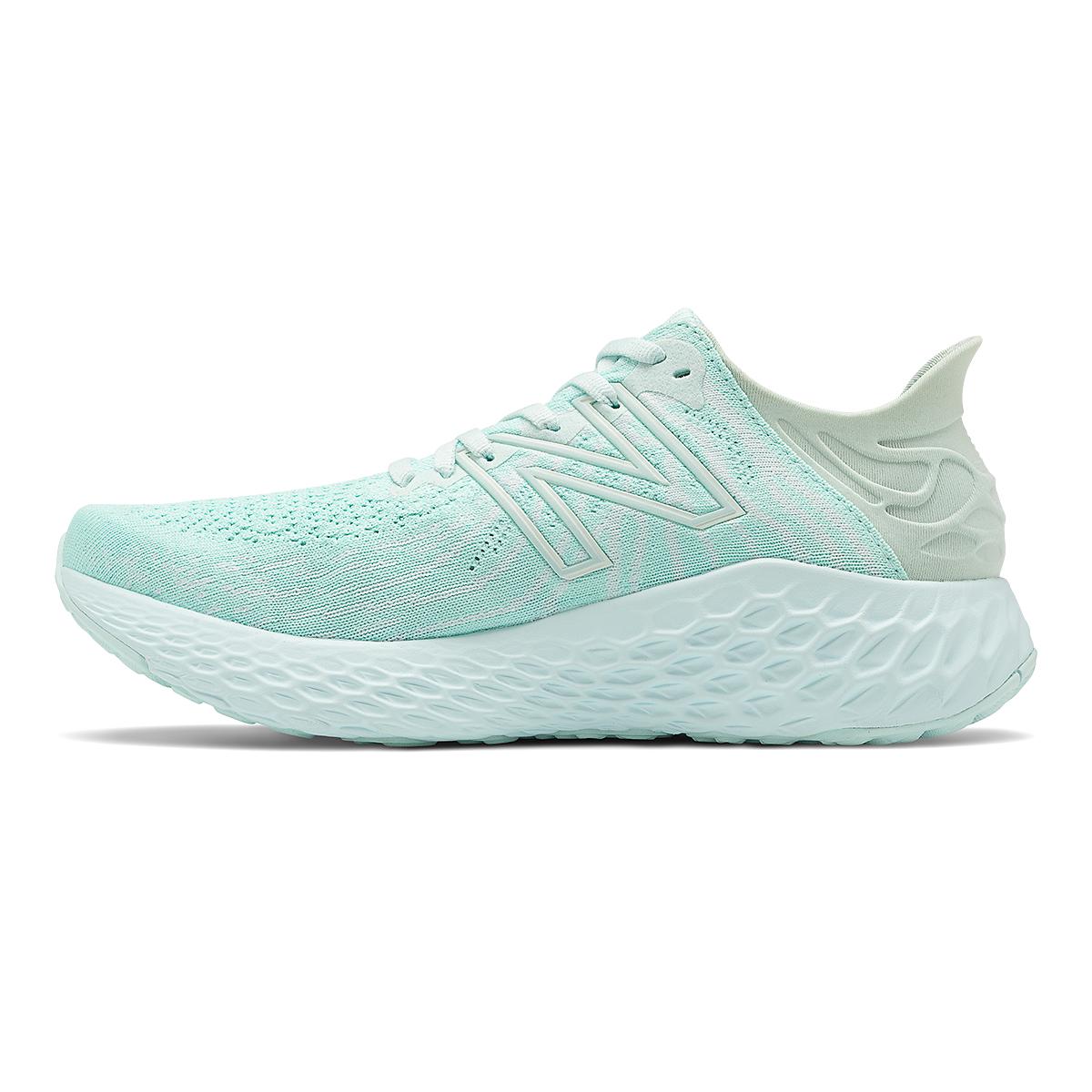 Women's New Balance Fresh Foam 1080V11 Running Shoe - Color: White Mint/White Jade - Size: 13 - Width: Regular, Mint Green, large, image 2