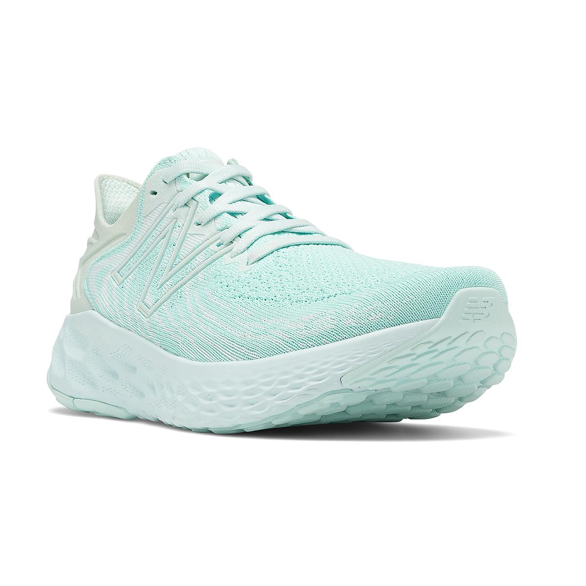 Women's New Balance Fresh Foam 1080V11 Running Shoe - Color: White Mint/White Jade - Size: 13 - Width: Regular, Mint Green, large, image 3