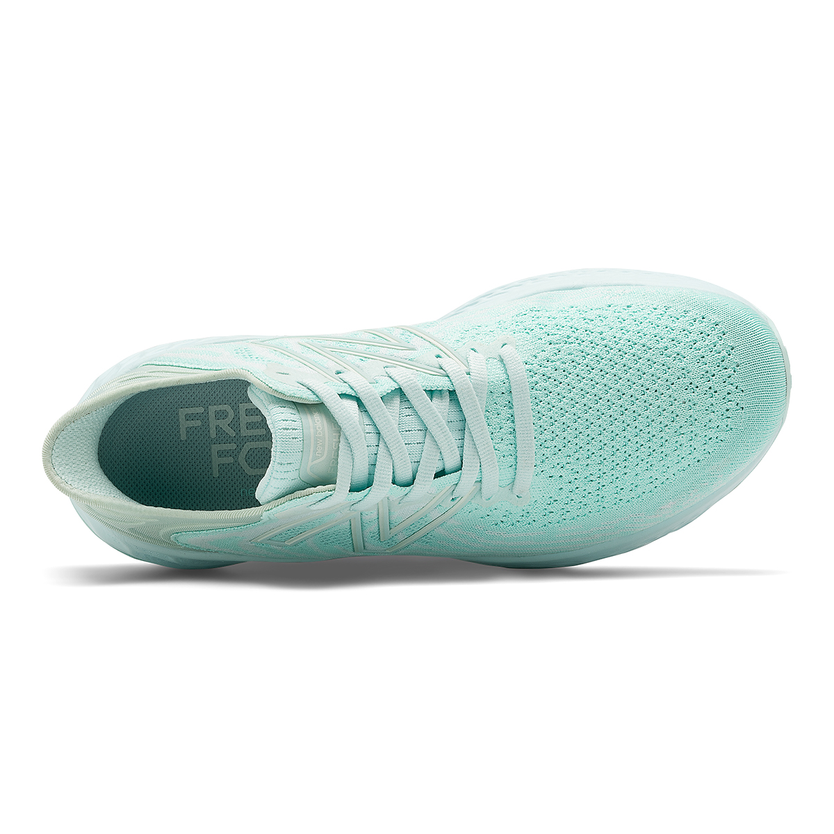 Women's New Balance Fresh Foam 1080V11 Running Shoe - Color: White Mint/White Jade - Size: 13 - Width: Regular, Mint Green, large, image 4
