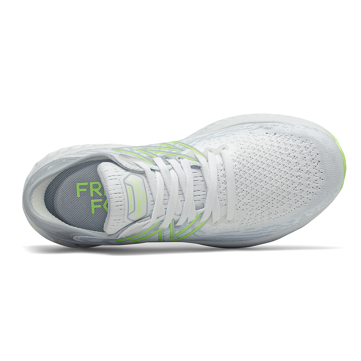 Women's New Balance 1080v11 Running Shoe - Color: White/Bleached Lime Glo - Size: 5 - Width: Narrow, White/Bleached Lime Glo, large, image 4