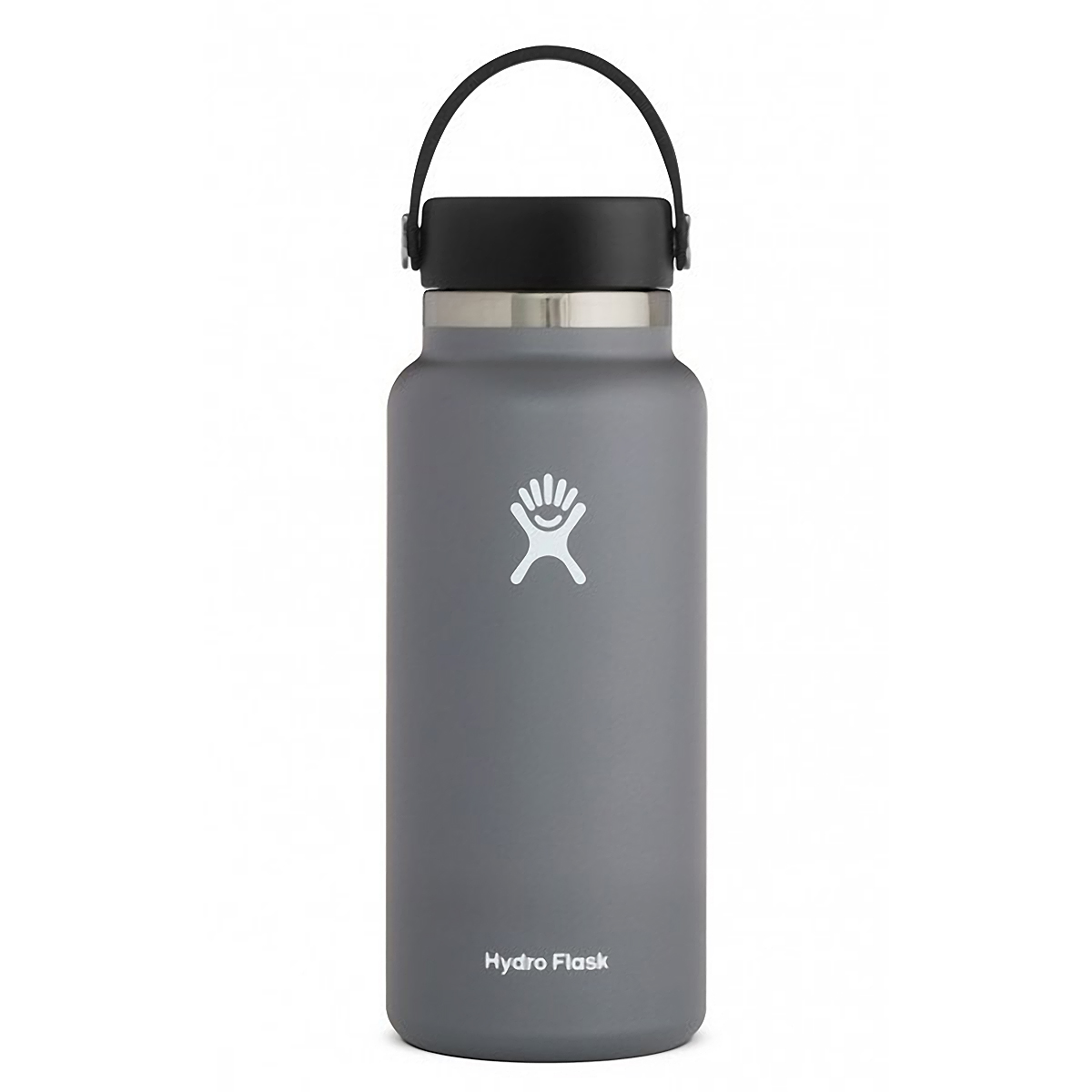 Hydro Flask 32 oz Wide Mouth Bottle - Color: Stone Size: One Size, Grey, large, image 1