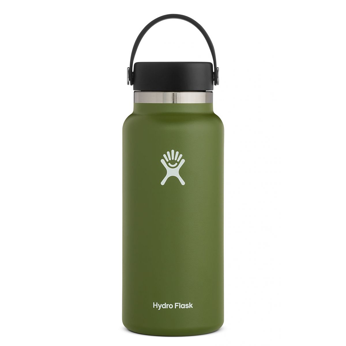 Hydro Flask 32 oz Wide Mouth Bottle - Color: Olive - Size: One Size, Olive, large, image 1