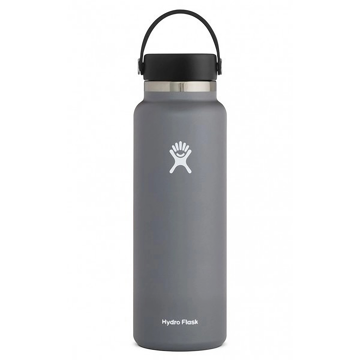 Hydro Flask 40 oz Wide Mouth Bottle - Color: Stone Size: One Size, Grey, large, image 1
