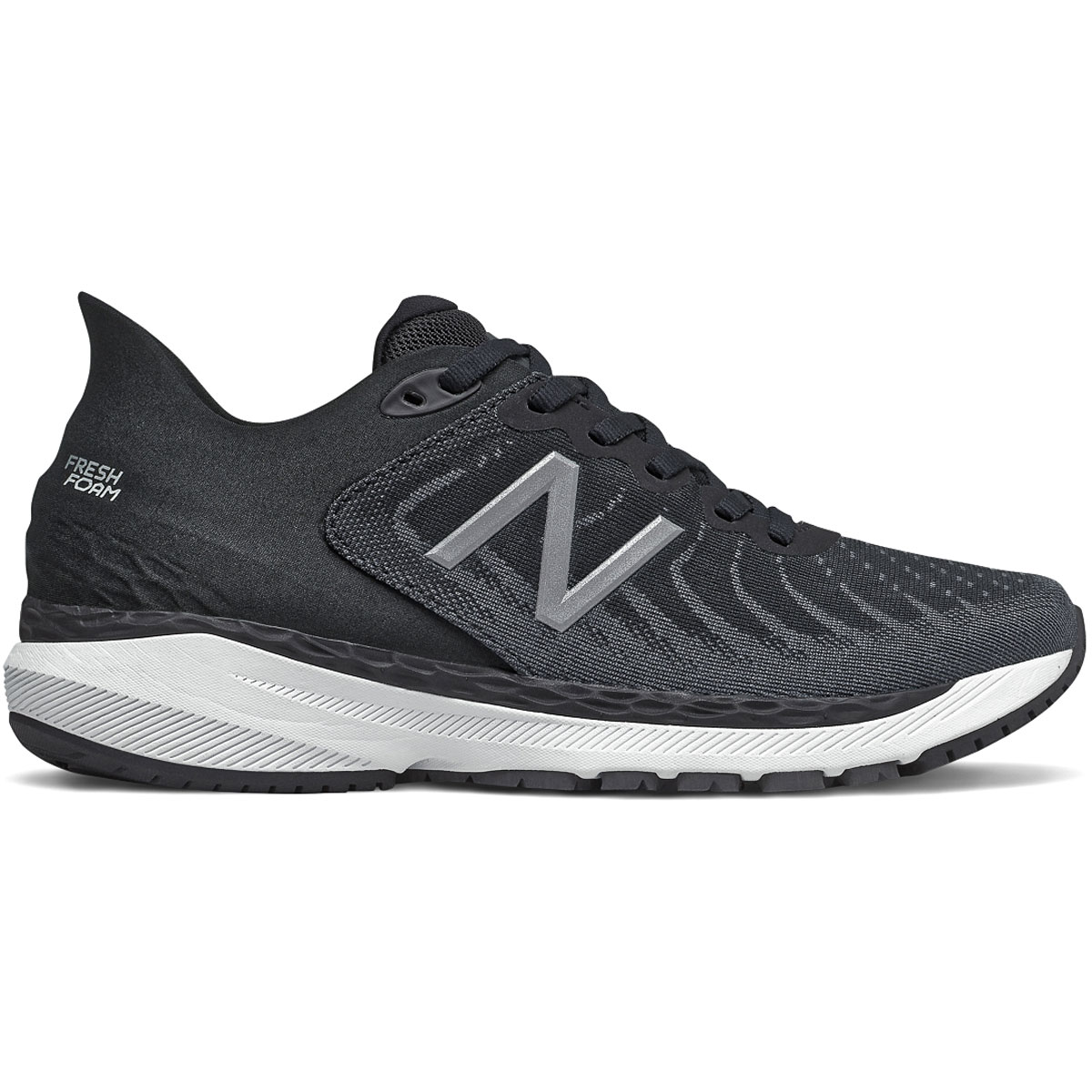 Women's New Balance 860V11 Running Shoe - Color: Black/White/Phantom - Size: 6.5 - Width: Regular, Black/White/Phantom, large, image 1