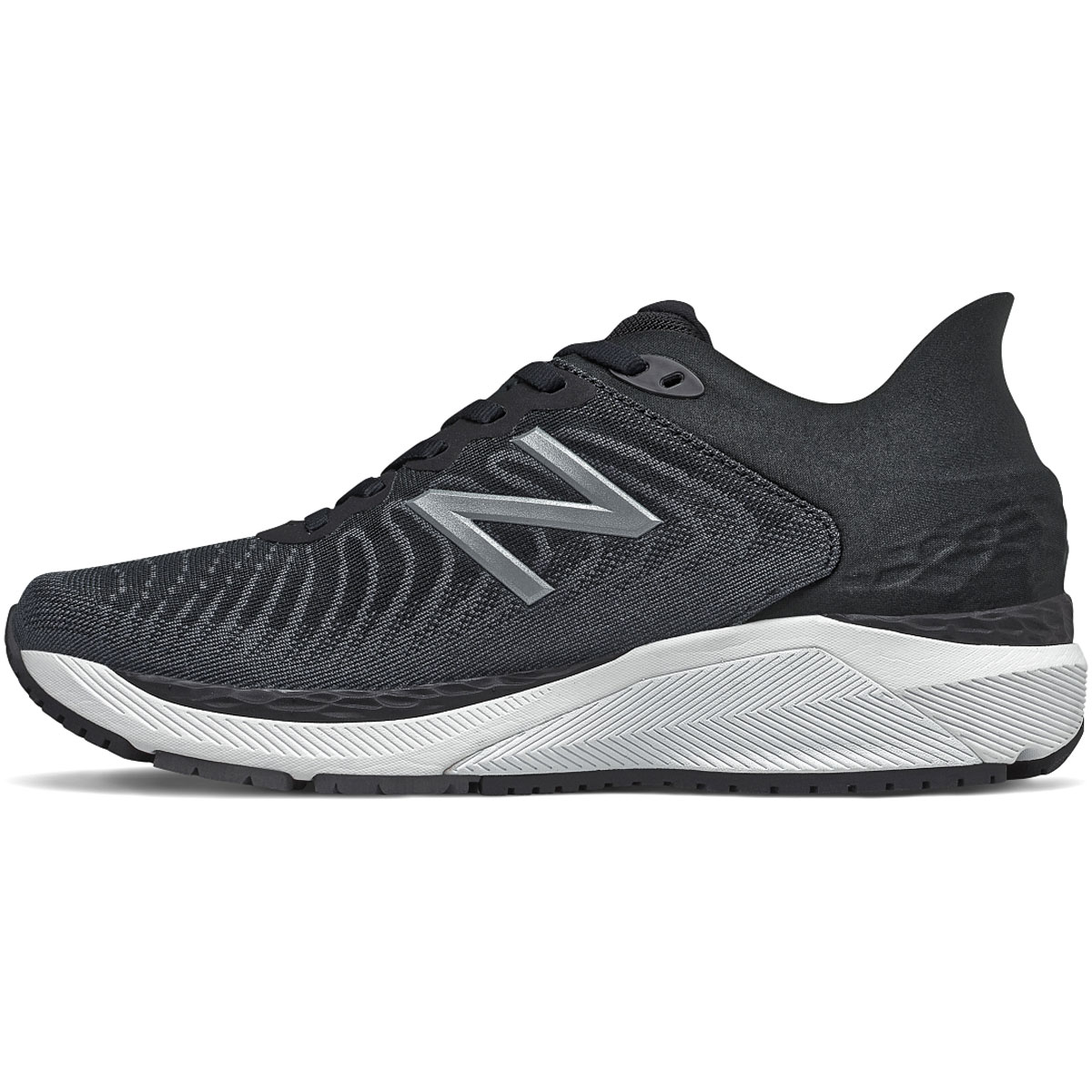 Women's New Balance 860V11 Running Shoe - Color: Black/White/Phantom - Size: 6.5 - Width: Regular, Black/White/Phantom, large, image 2