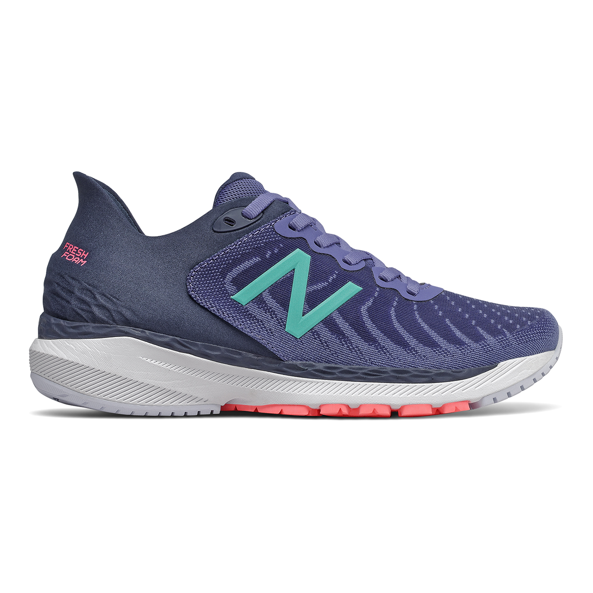 Women's New Balance 860V11 Running Shoe - Color: Magnetic Blue - Size: 5 - Width: Narrow, Magnetic Blue, large, image 1