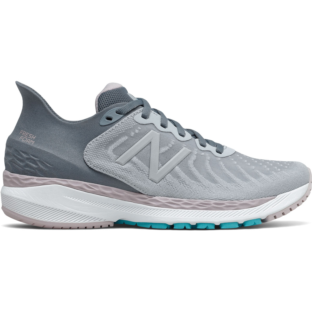 Women's New Balance 860V11 Running Shoe - Color: Light Cyclone/Logwood  - Size: 5 - Width: Narrow, Light Cyclone/Logwood, large, image 1
