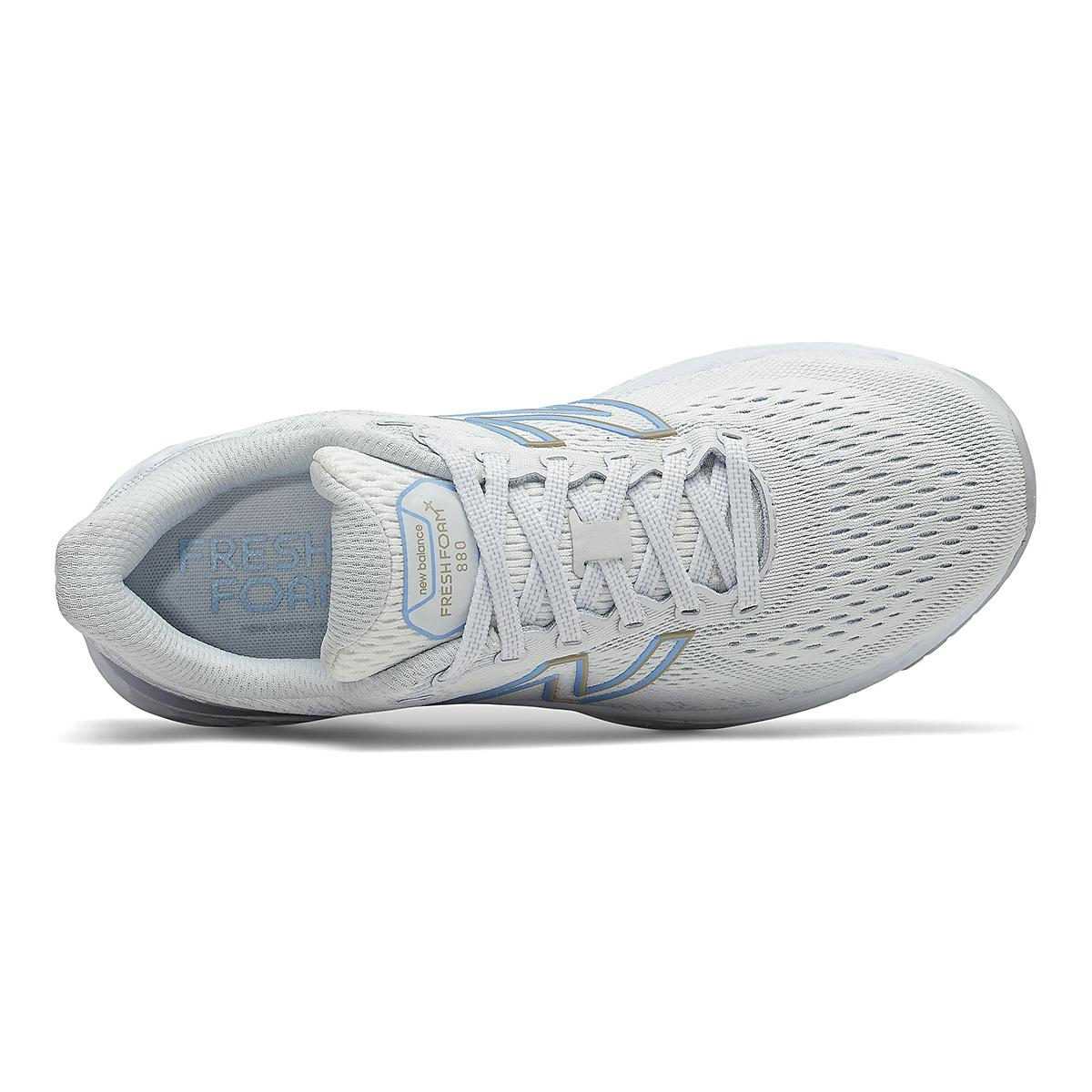 Women's New Balance 880V11 Running Shoe - Color: Arctic Fox/Uv Glo - Size: 5 - Width: Extra Wide, Arctic Fox/Uv Glo, large, image 3
