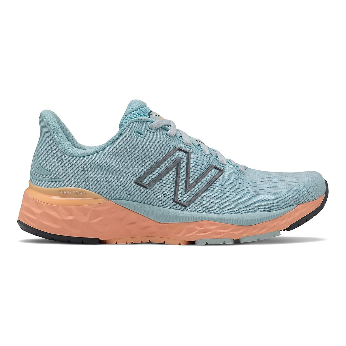 Women's New Balance 880V11 Running Shoe - Color: Pale Blue Chill/Light Mango - Size: 5 - Width: Narrow, Pale Blue Chill/Light Mango, large, image 1