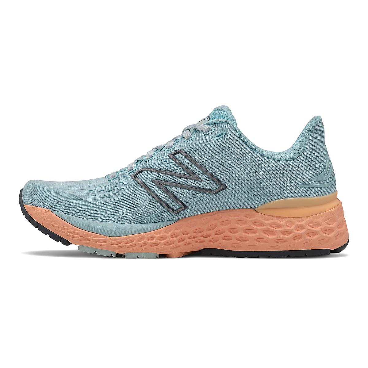 Women's New Balance 880V11 Running Shoe - Color: Pale Blue Chill/Light Mango - Size: 5 - Width: Narrow, Pale Blue Chill/Light Mango, large, image 2