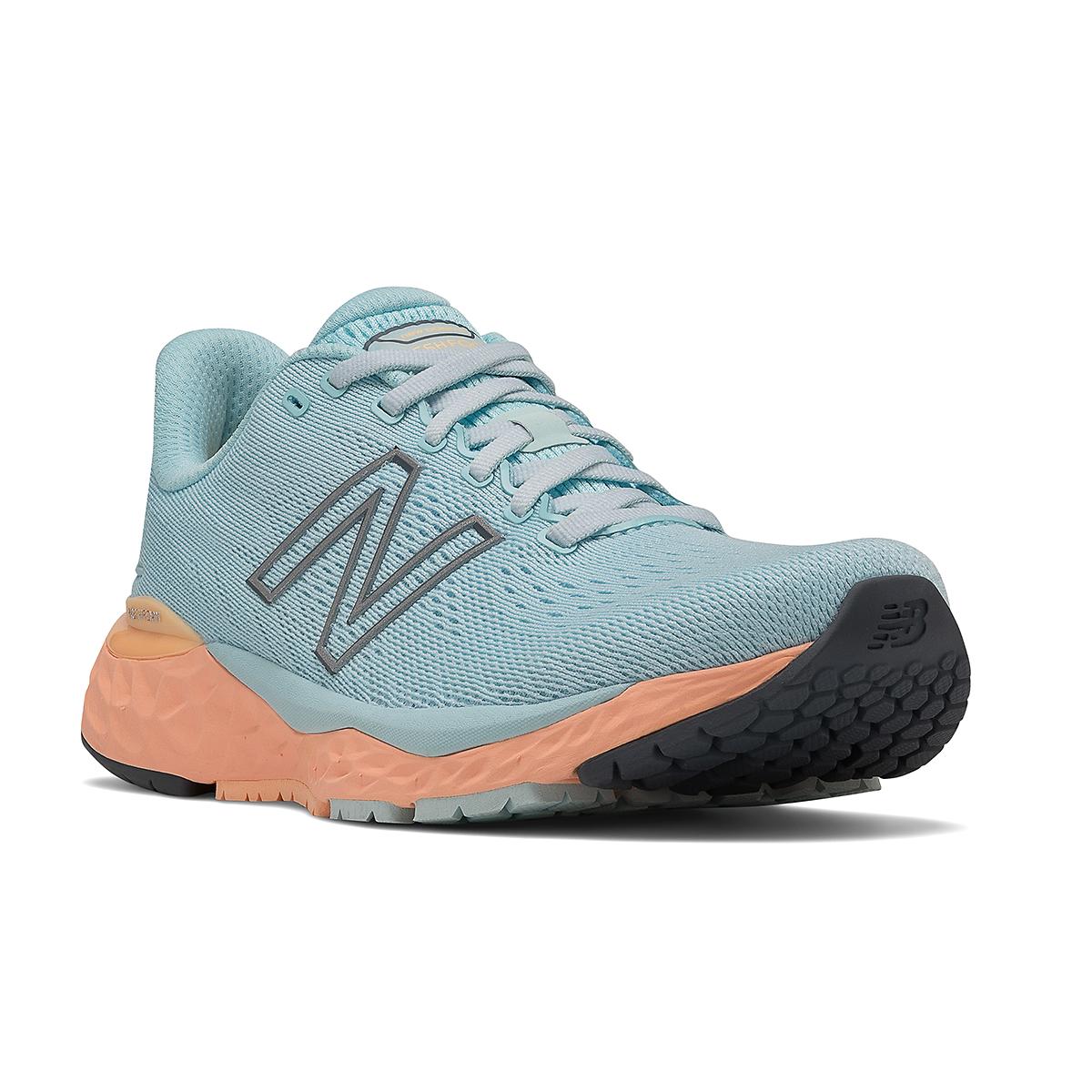 Women's New Balance 880V11 Running Shoe - Color: Pale Blue Chill/Light Mango - Size: 5 - Width: Narrow, Pale Blue Chill/Light Mango, large, image 3