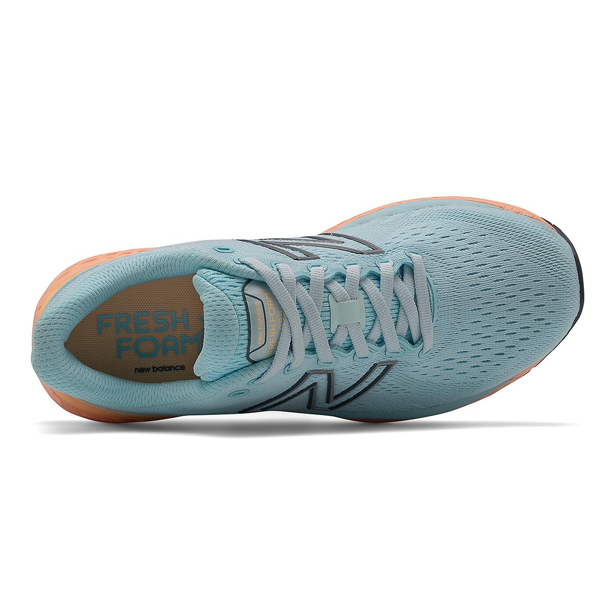 Women's New Balance 880V11 Running Shoe - Color: Pale Blue Chill/Light Mango - Size: 5 - Width: Narrow, Pale Blue Chill/Light Mango, large, image 4