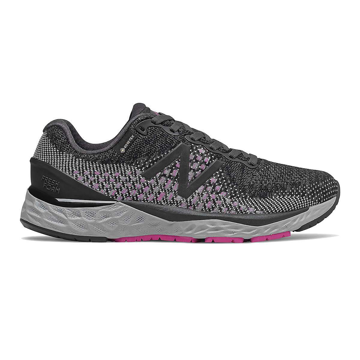 Women's New Balance Fresh Foam 880v10 Gore-Tex Running Shoes - Color: Black With Thunder - Size: 10 - Width: Regular, Black With Thunder, large, image 1