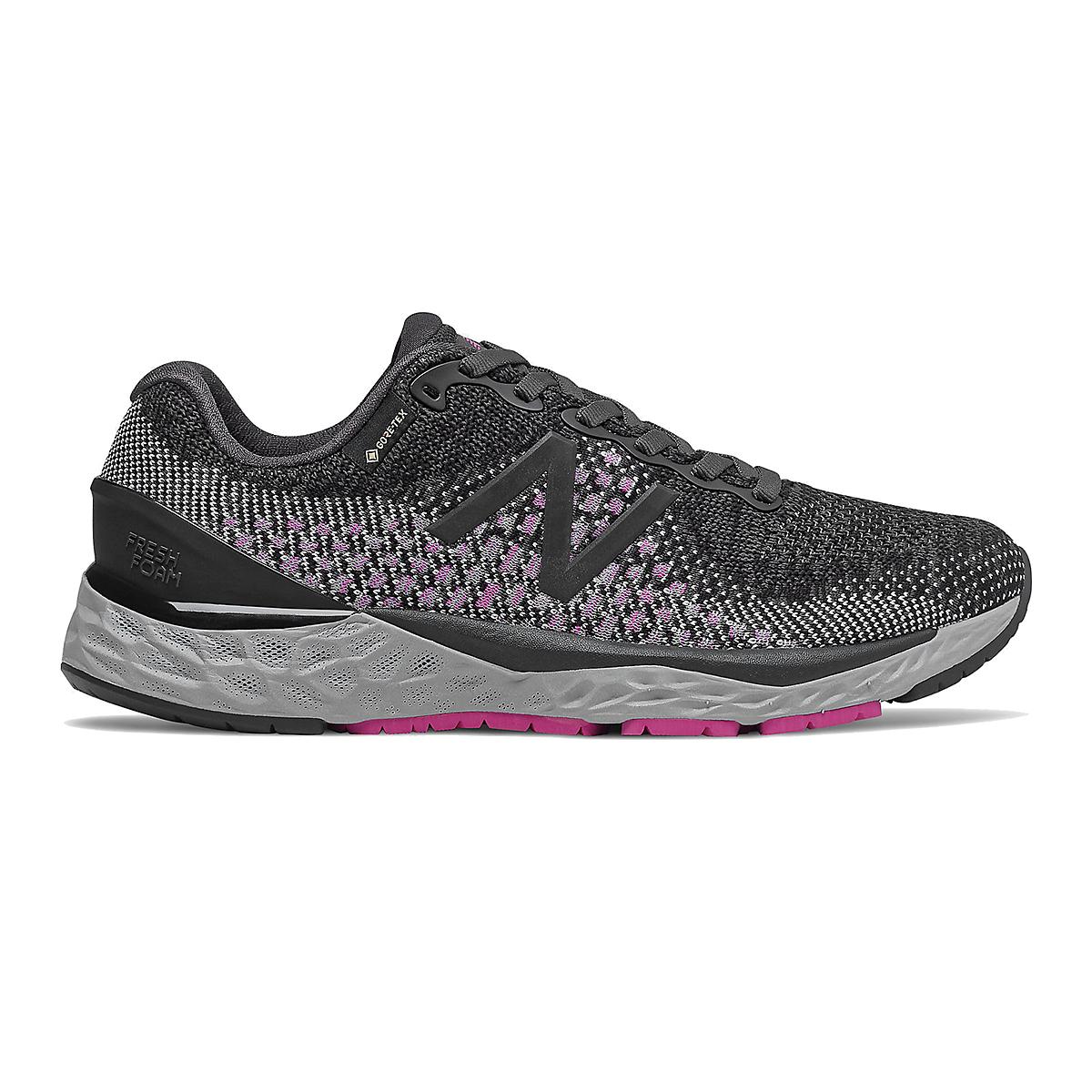 Women's New Balance Fresh Foam 880v10 Gore-Tex Running Shoe - Color: Black With Thunder - Size: 10 - Width: Regular, Black With Thunder, large, image 1