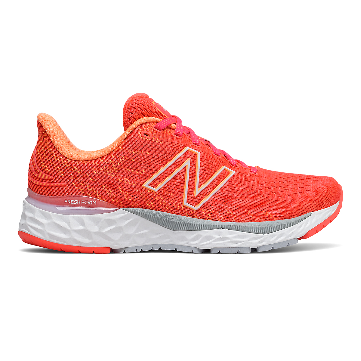 Women's New Balance 880V11 Running Shoe - Color: Vivid Coral/Citrus Punch - Size: 5 - Width: Extra Wide, Vivid Coral/Citrus Punch, large, image 1