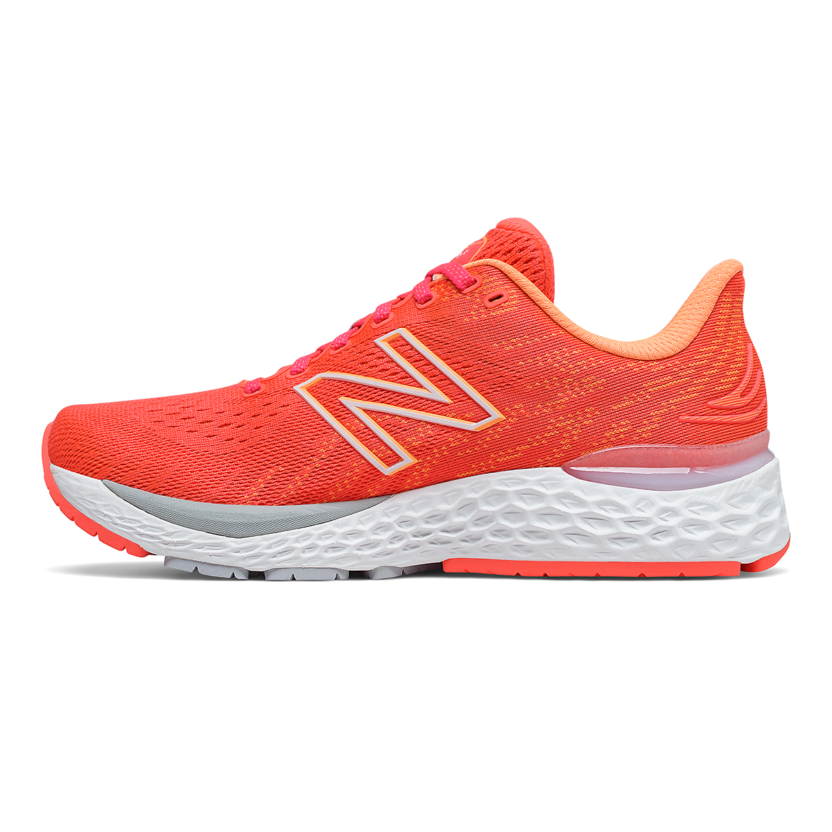 Women's New Balance 880V11 Running Shoe - Color: Vivid Coral/Citrus Punch - Size: 5 - Width: Extra Wide, Vivid Coral/Citrus Punch, large, image 2