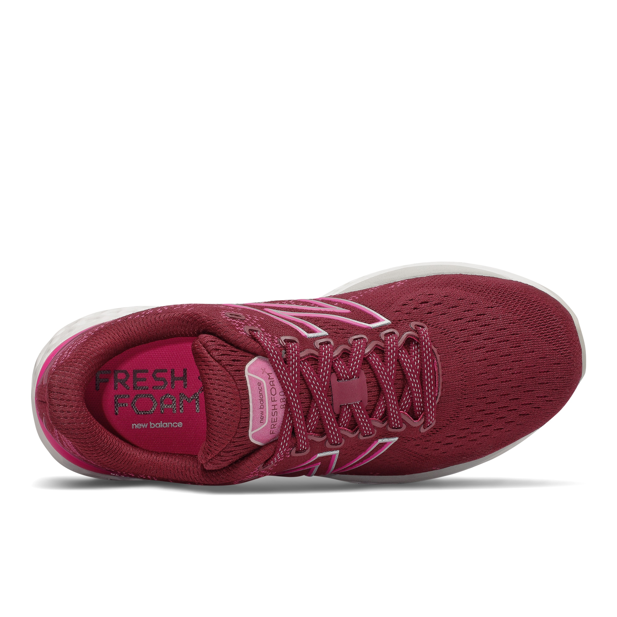 Women's New Balance 880V11 Running Shoe - Color: Garnet/Pink Glo - Size: 5 - Width: Narrow, Garnet/Pink Glo, large, image 3
