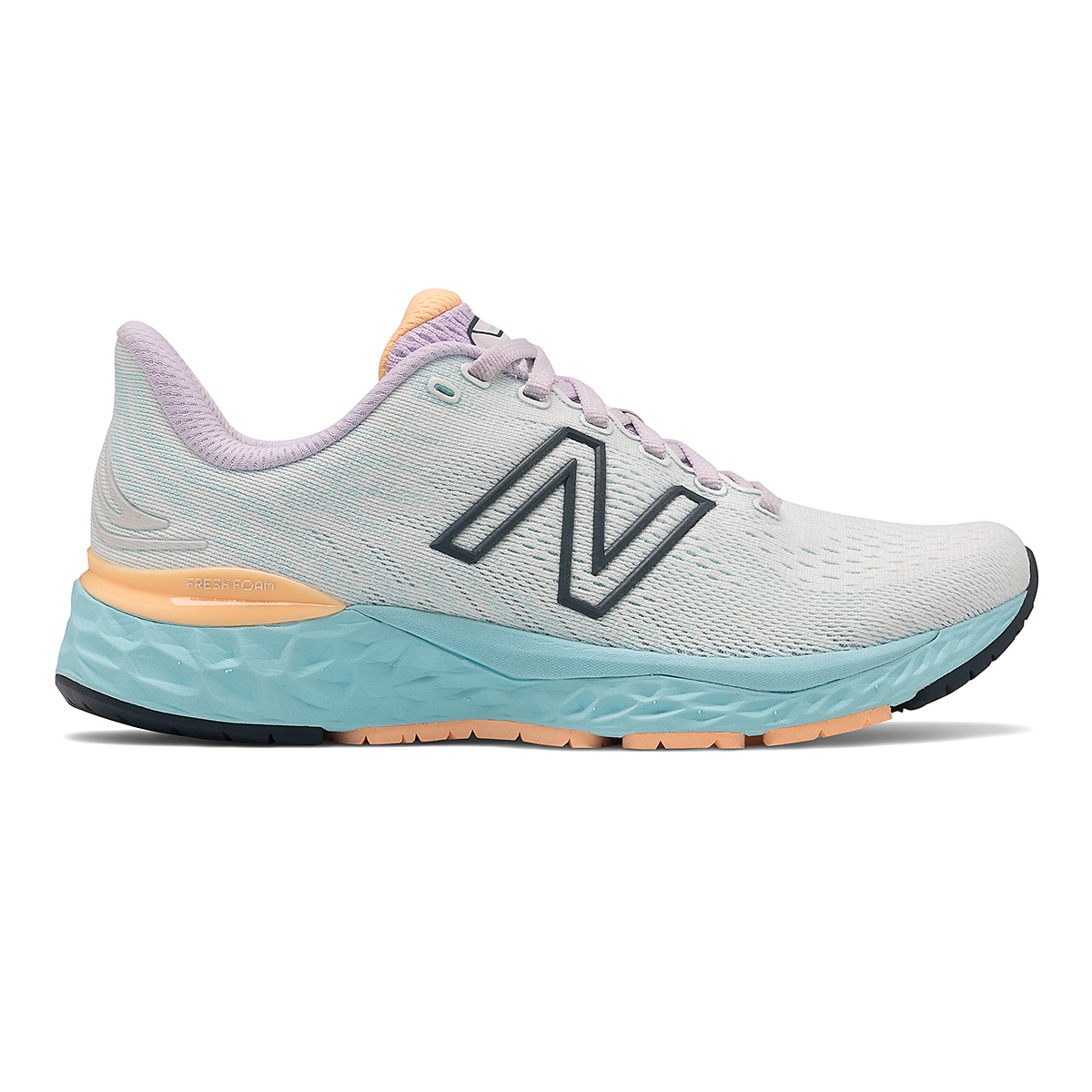 Women's New Balance 880V11 Running Shoe - Color: White/Blue Chill - Size: 5 - Width: Narrow, White/Blue Chill, large, image 1