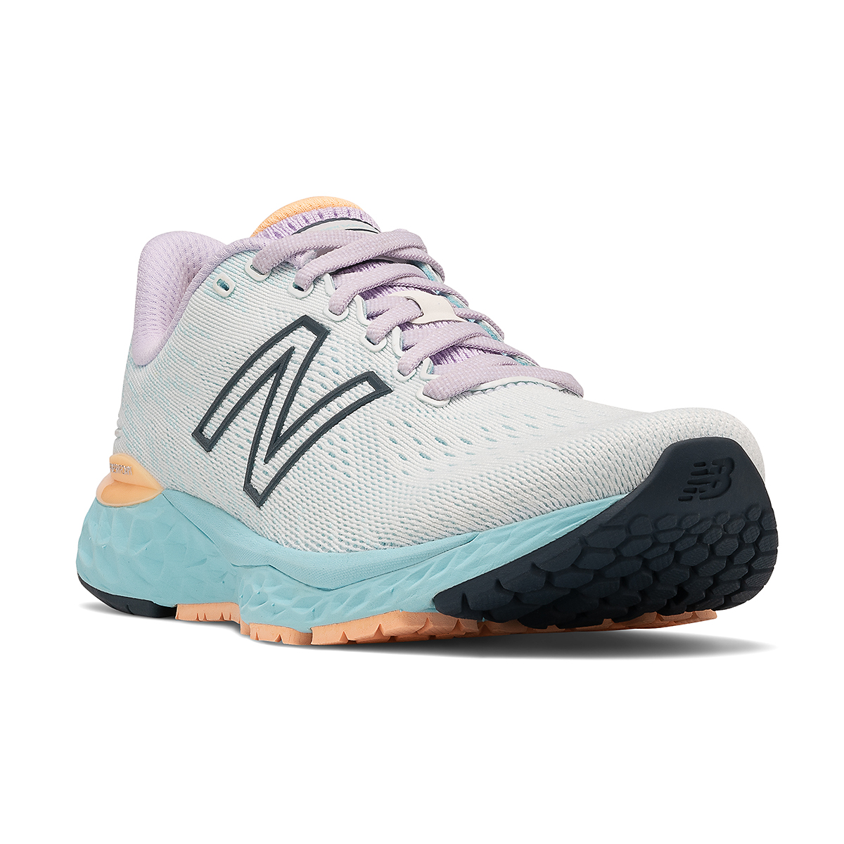 Women's New Balance 880V11 Running Shoe - Color: White/Blue Chill - Size: 5 - Width: Narrow, White/Blue Chill, large, image 3
