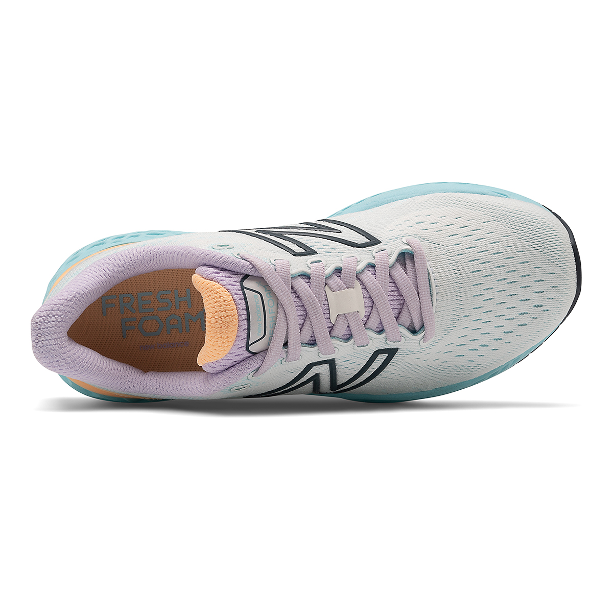 Women's New Balance 880V11 Running Shoe - Color: White/Blue Chill - Size: 5 - Width: Narrow, White/Blue Chill, large, image 4