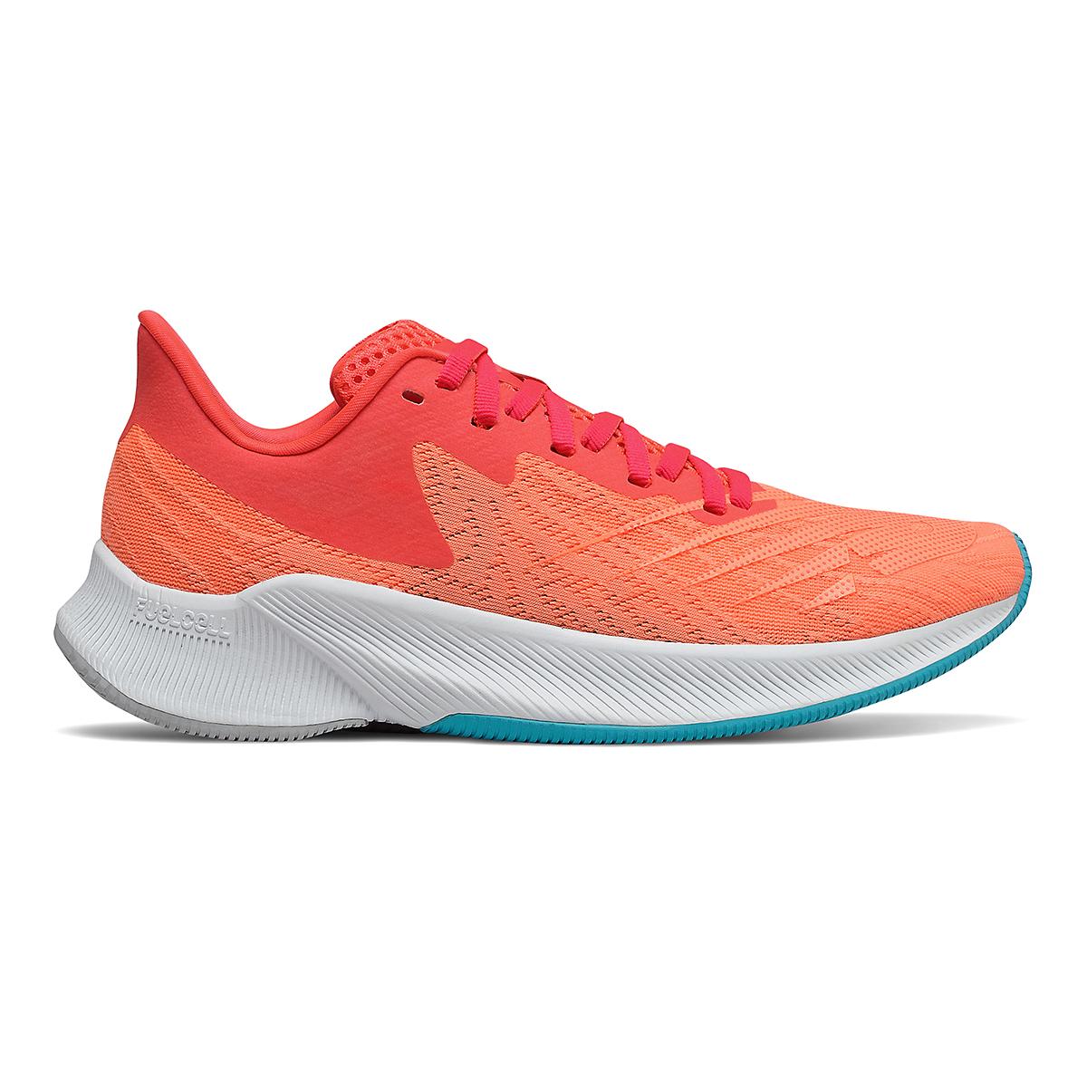 Women's New Balance Fuelcell Prism Running Shoe - Color: Vivid Coral/Citrus - Size: 5 - Width: Regular, Vivid Coral/Citrus, large, image 1