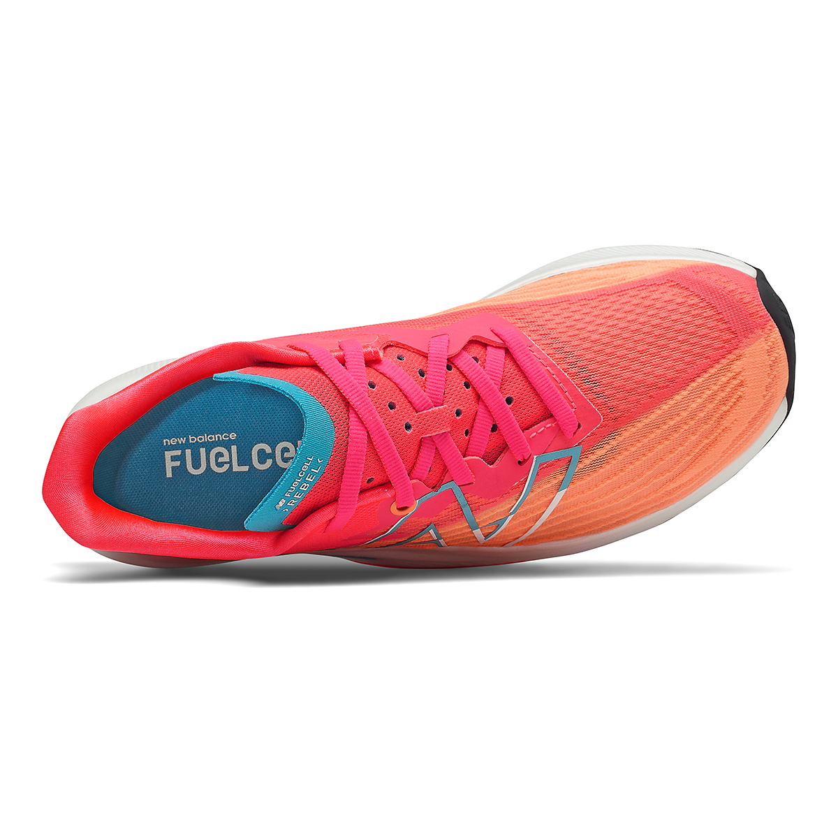 Women's New Balance Fuelcell Rebel V2 Running Shoe - Color: Citrus Punch/Vivid Coral/Ghost Pepper - Size: 7 - Width: Regular, Citrus Punch/Vivid Coral/Ghost Pepper, large, image 3