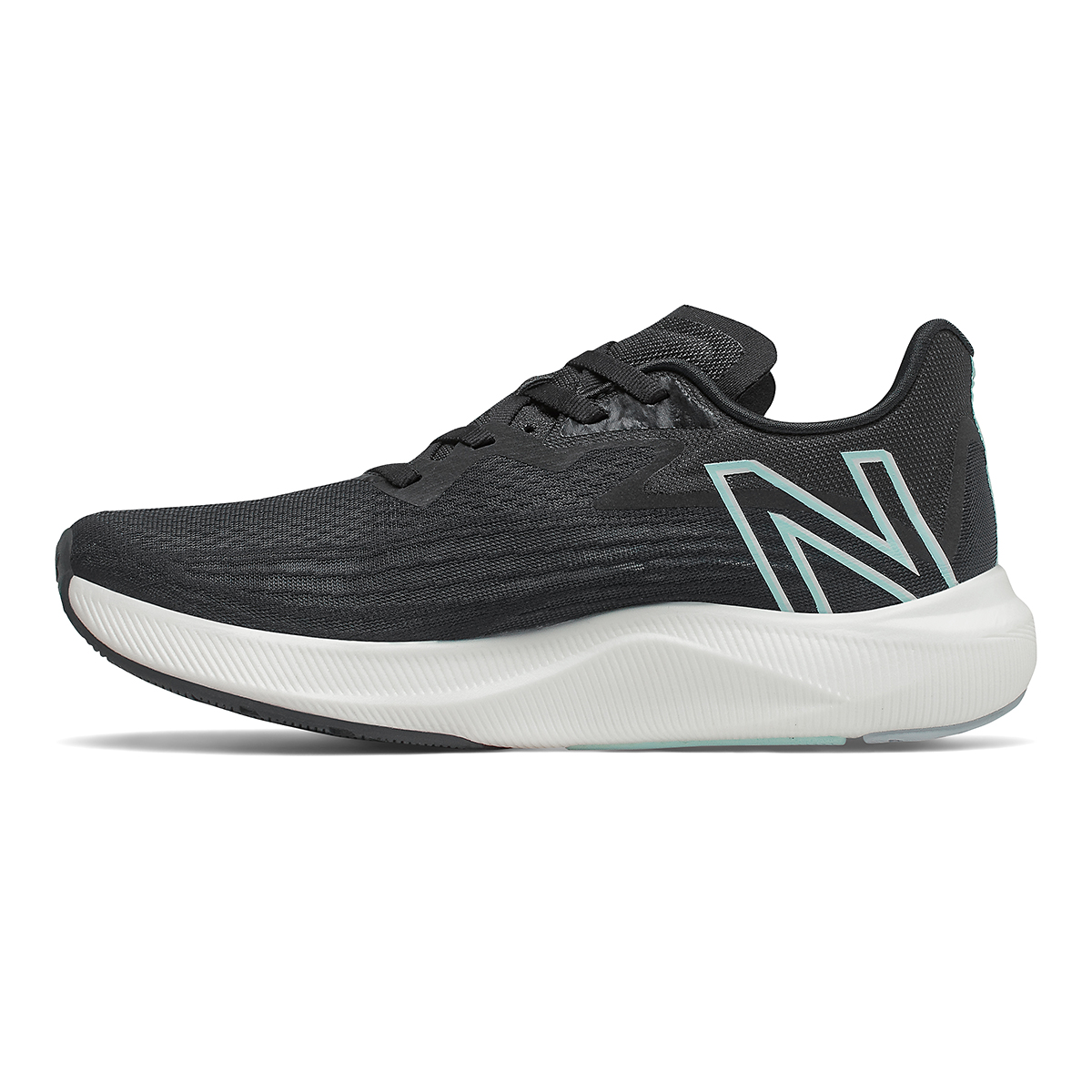 Women's New Balance Fuelcell Rebel V2 Running Shoe - Color: Black/White Mint/Citrus Punch - Size: 5 - Width: Regular, Black/White Mint/Citrus Punch, large, image 2