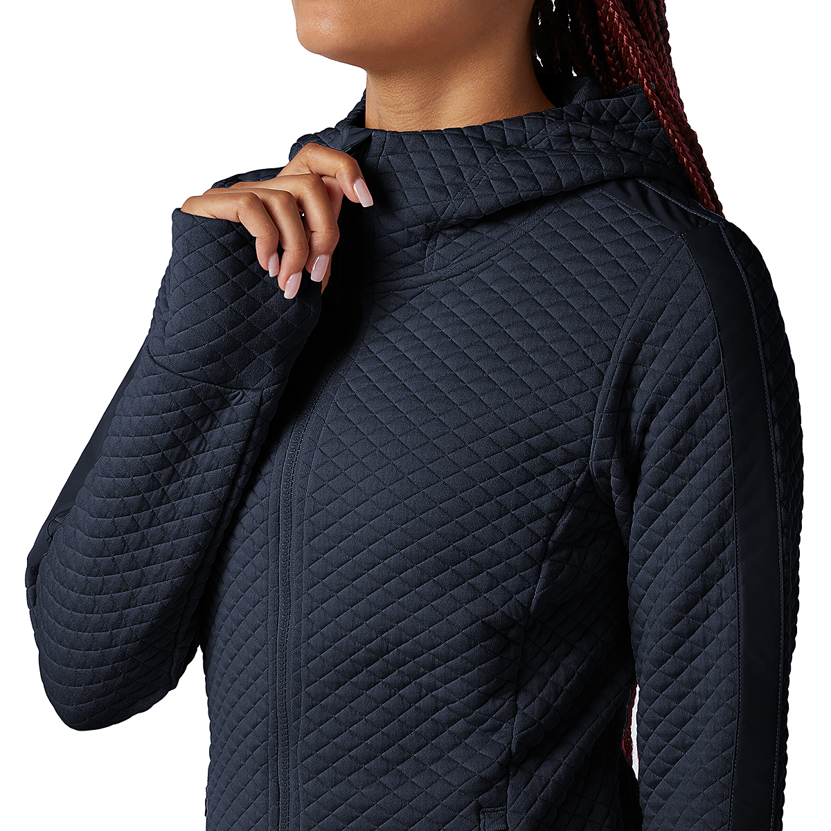 Women's New Balance Heatloft Jacket - Color: Eclipse Heather - Size: XS, Eclipse Heather, large, image 4