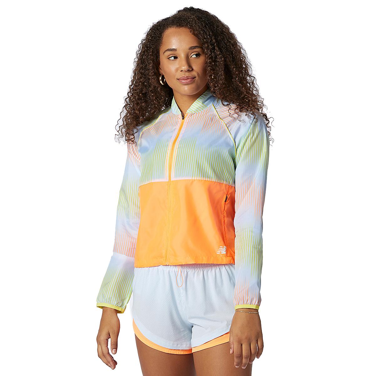 Women's New Balance Fast Flight Jacket - Color: Citrus Punch - Size: XS, Citrus Punch, large, image 1