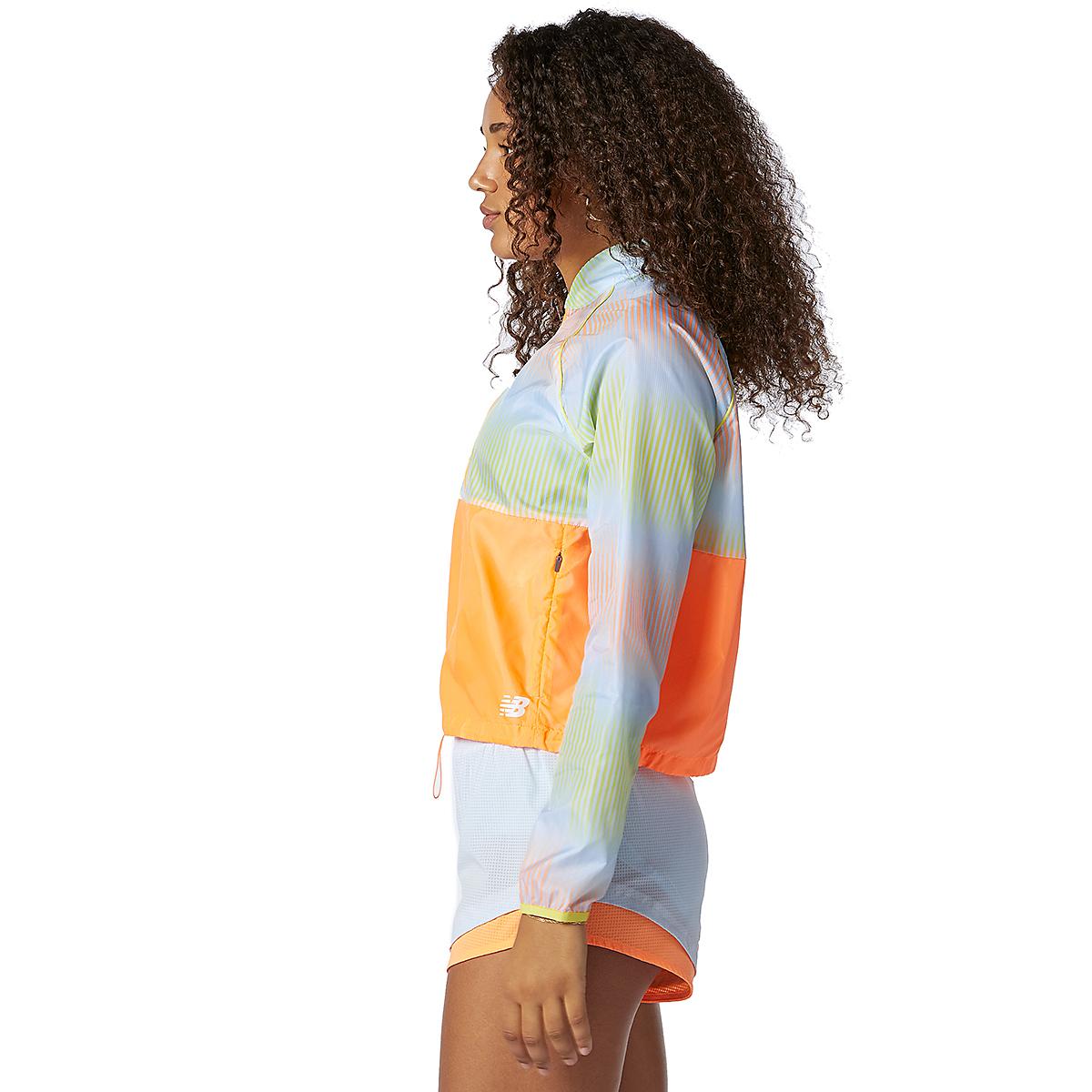 Women's New Balance Fast Flight Jacket - Color: Citrus Punch - Size: XS, Citrus Punch, large, image 2