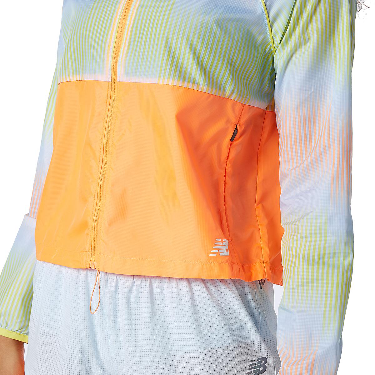 Women's New Balance Fast Flight Jacket - Color: Citrus Punch - Size: XS, Citrus Punch, large, image 4