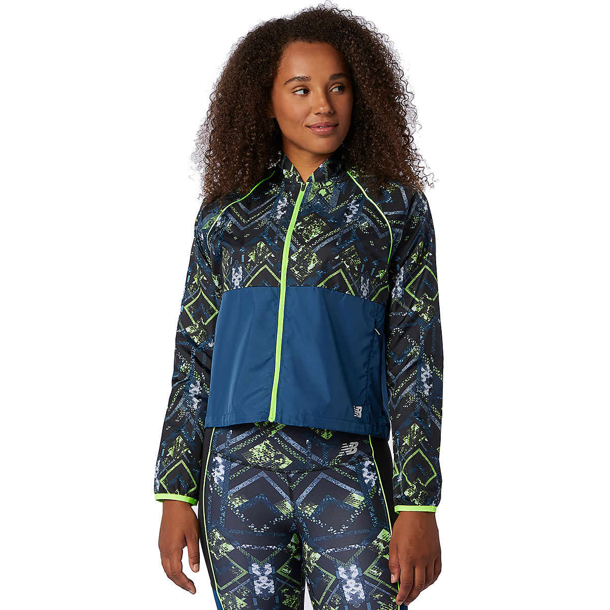 Women's New Balance Printed Fast Flight Jacket - Color: Print - Size: XS, Print, large, image 1
