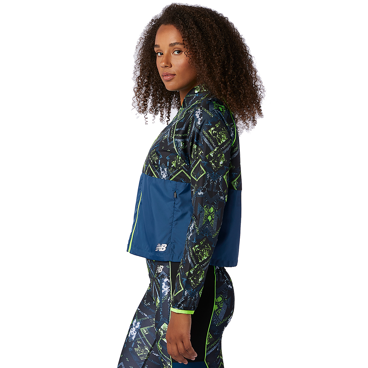 Women's New Balance Printed Fast Flight Jacket - Color: Print - Size: XS, Print, large, image 2