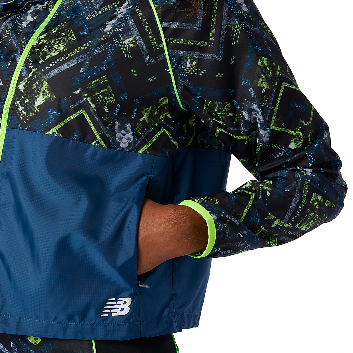 Women's New Balance Printed Fast Flight Jacket - Color: Print - Size: XS, Print, large, image 4