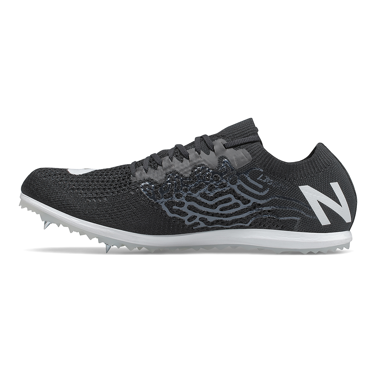 Women's New Balance LD5Kv8 Track Spikes - Color: Black/White - Size: 6 - Width: Regular, Black/White, large, image 2