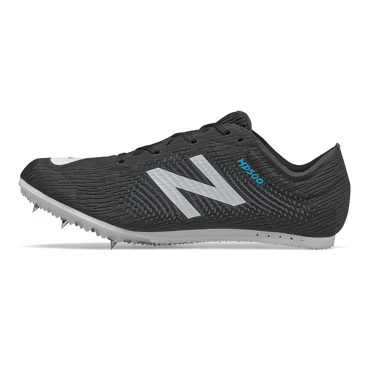 Women's New Balance MD500v7 Track Spikes - Color: Black/White - Size: 5.5 - Width: Regular, Black/White, large, image 2