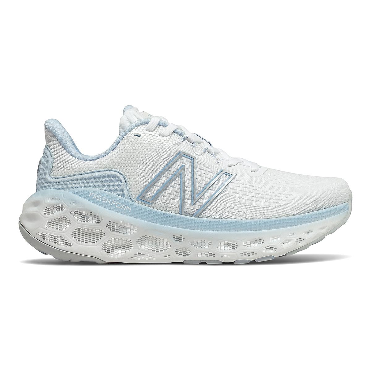 Women's New Balance More V3 Running Shoe - Color: White/Uv Glo - Size: 5 - Width: Extra Wide, White/Uv Glo, large, image 1