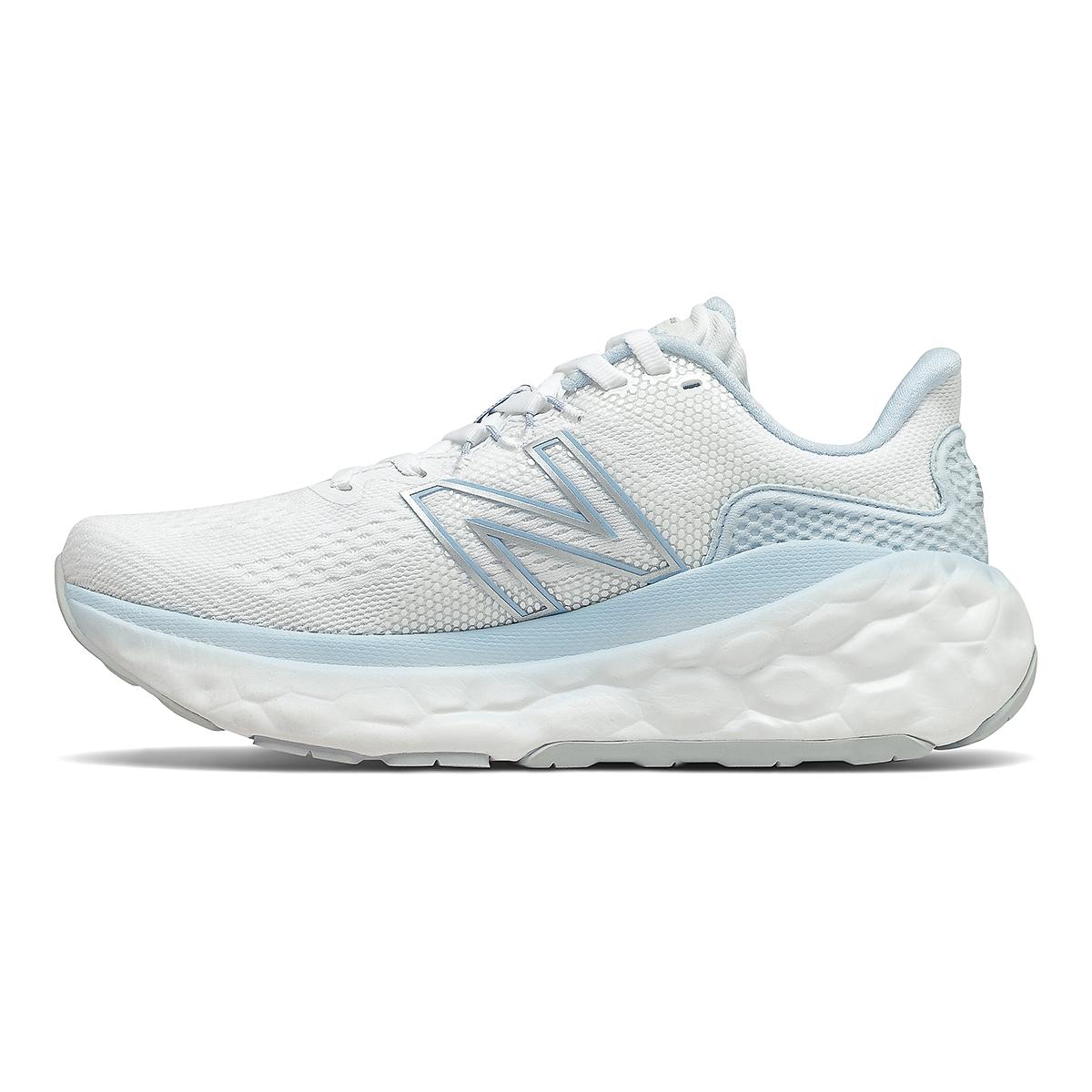 Women's New Balance More V3 Running Shoe - Color: White/Uv Glo - Size: 5 - Width: Extra Wide, White/Uv Glo, large, image 2